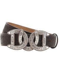 DSquared² - 30mm Dd Buckle Embossed Leather Belt - Lyst