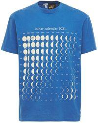 Loewe Paula Mooncalendar コットンブレンドtシャツ - ブルー