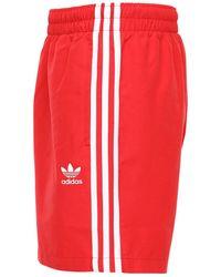 """adidas Originals Shorts Mare """"3-stripes"""" - Rosso"""