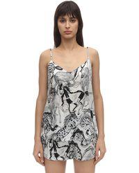 Stella McCartney Margot Racing Print Silk Camisole - Black