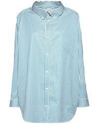 Balenciaga オーバーサイズコットンポプリンシャツ - ブルー
