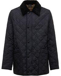 Burberry キルテッドナイロンシャツジャケット - ブルー