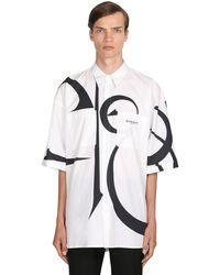 Givenchy Рубашка Из Хлопка Поплин - Белый