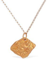 Alighieri Tiger Zodiac Charm Chain Necklace - Mettallic