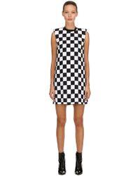 Versus Checkerboard Print Sable Dress - Black