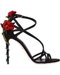 Dolce & Gabbana - 105mm Keira Rose Satin Sandals - Lyst