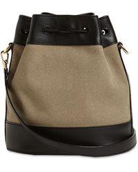 Bally Cleoh Naw Canvas & Leather Bucket Bag - Multicolour