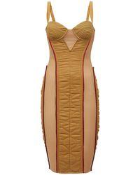 Burberry Стеганое Платье-корсет - Многоцветный