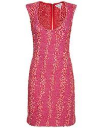 Bottega Veneta Короткое Платье Compact - Розовый