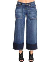 Marina Rinaldi - Idioma Wide Leg Cropped Denim Jeans - Lyst