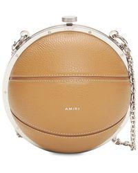 Amiri Basketball レザー&スエードバッグ - ブラウン