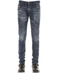 """DIESEL Jeans Slim Fit """"Tepphar X"""" In Denim 17Cm - Blu"""