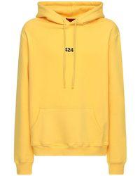 424 Kapuzensweatshirt Aus Baumwolle Mit -logo - Gelb