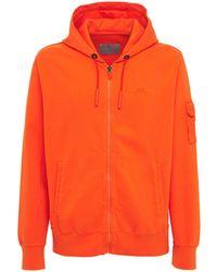 A_COLD_WALL* Hoodie Aus Baumwolljersey Mit Logo - Orange
