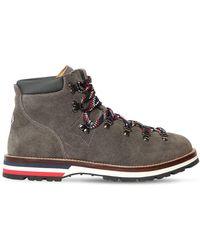 Moncler Peak Suede Lace-up Boots - Multicolor