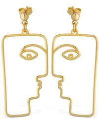 Nina Kastens Jewelry - Mop Face Earrings - Lyst