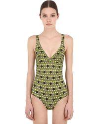 Laura Urbinati Sormonto Pique One Piece Swimsuit - Green