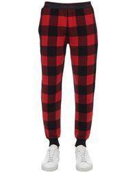 Calvin Klein コットン チェック柄パジャマパンツ - レッド