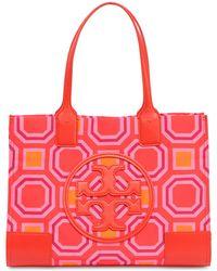Tory Burch - Mini Ella Printed Canvas Tote Bag - Lyst