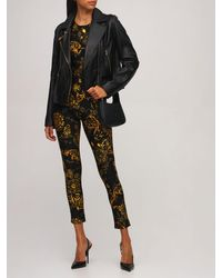 Versace Jeans Couture Printed Stretch Jersey Jumpsuit - Black