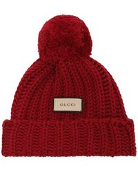 Gucci Wool Knit Hat - Red