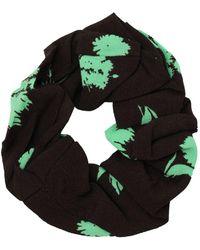 Ganni Printed Crepe Poplin Scrunchie - Green