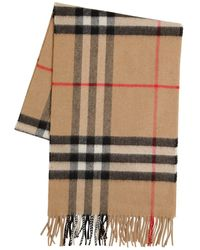 Burberry Classic Check Giant Icon Cashmere Scarf - Natural
