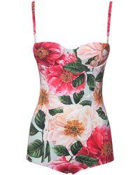 Dolce & Gabbana Einteiliger Badeanzug Mit Druck - Mehrfarbig