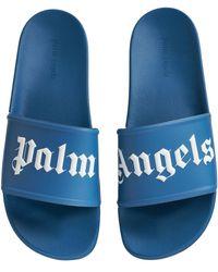 Palm Angels Pool スライドサンダル - ブルー