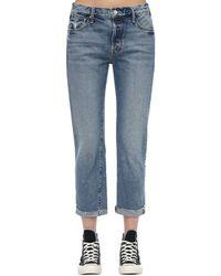 """Mother Jeans """"The Scrapper"""" In Denim - Blu"""