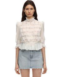 Marc Jacobs Рубашка Из Хлопка И Шелка - Белый