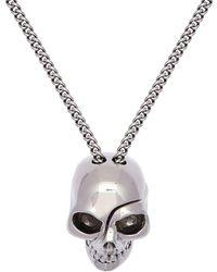 Alexander McQueen Skull チェーンネックレス - メタリック