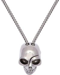 Alexander McQueen - Divided Skull Charm Necklace - Lyst