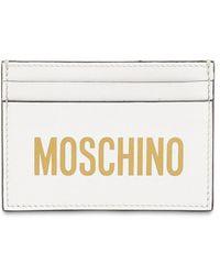 Moschino プリントロゴレザーカードホルダー - ホワイト