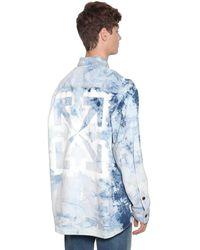Off-White c/o Virgil Abloh Oversized Hemd Aus Baumwolldenim - Blau