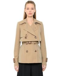 Alexander McQueen - Cotton Gabardine Trench Jacket - Lyst