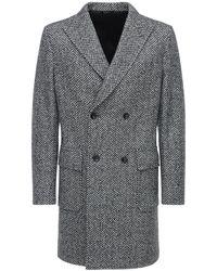 Tonello Двубортное Шерстяное Пальто - Серый