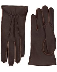 Mario Portolano Handschuhe Aus Kaschmir - Braun