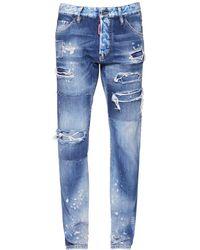 DSquared² Cool Guy Rip コットンデニムジーンズ 16.5cm - ブルー