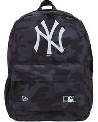 KTZ Ny Yankees Logo Camo Backpack - Black