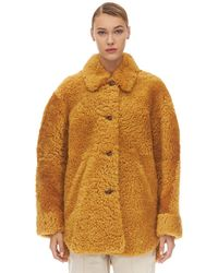 """Isabel Marant - Cappotto """"Sarvvey"""" In Shearling - Lyst"""