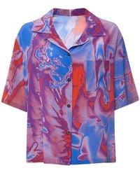 McQ Fantasma シルククレープボウリングシャツ - マルチカラー