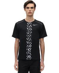 """Nike T-Shirt """"Dry Miler Reflective Running"""" - Nero"""