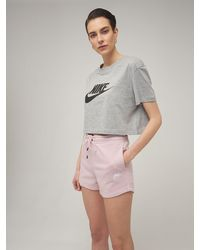 Nike French Terry Sweat Shorts - Pink