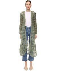 Gudrun & Gudrun Iekri Mohair Blend Loose Knit Cardigan - Green