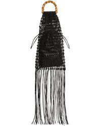Jil Sander レザートップハンドルバッグ - ブラック