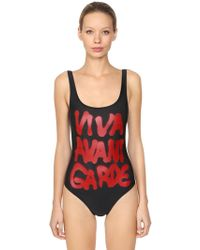 Jeremy Scott - Graffiti Print Lycra One Piece Swimsuit - Lyst