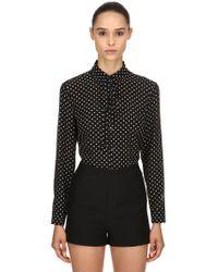 RED Valentino - Polka Dots Silk Crepe De Chine Shirt - Lyst