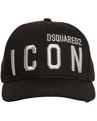 DSquared² Icon ギャバジンキャップ - ブラック
