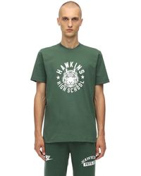 "Nike T-Shirt ""Stranger Things"" In Jersey Di Cotone - Verde"
